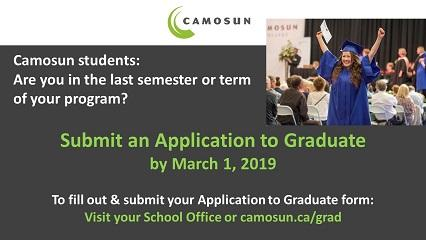 Graduation 2019 - Application Deadline